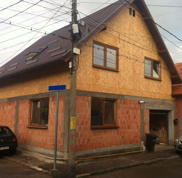case mixte din caramida si lemn Brick and wooden structure houses 6
