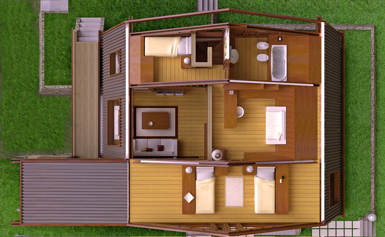 Astounding Modern Wood House Plans Tradition In Contemporary Lines Houz Buzz Largest Home Design Picture Inspirations Pitcheantrous
