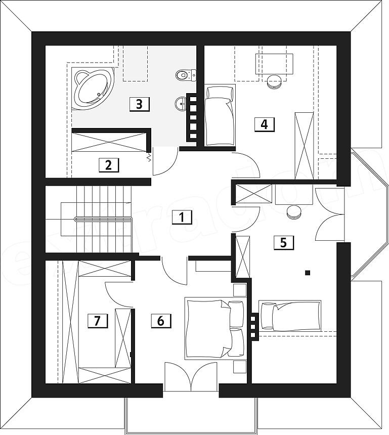 Light frame house plans modern times adapted homes for Home design 84 square metres