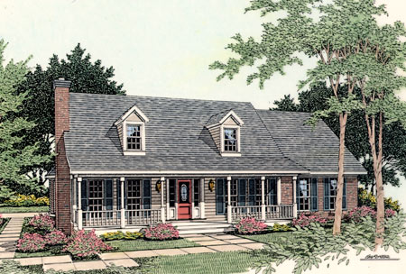 Rustic brick home plans