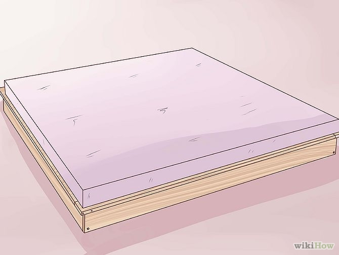 construirea unui pat din lemn How to build a wood frame bed 10