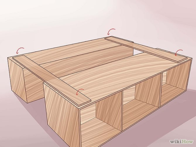 construirea unui pat din lemn How to build a wood frame bed 12