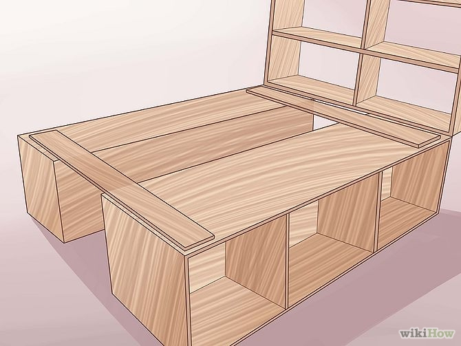 construirea unui pat din lemn How to build a wood frame bed 13
