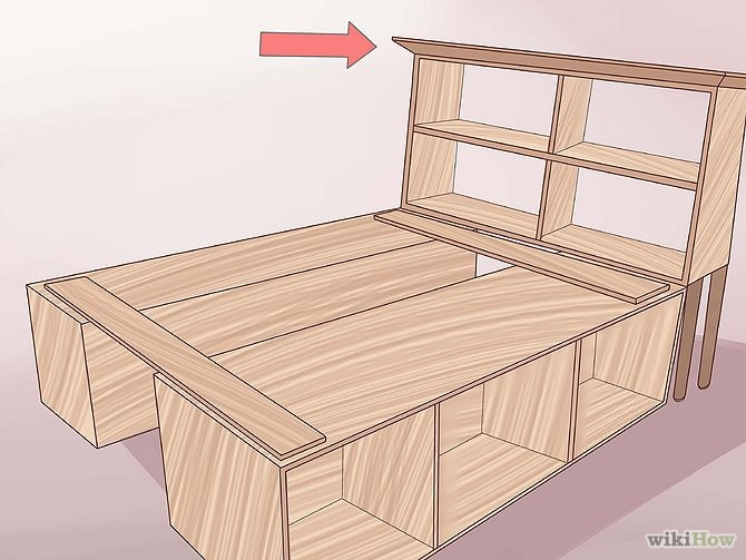 construirea unui pat din lemn How to build a wood frame bed 15