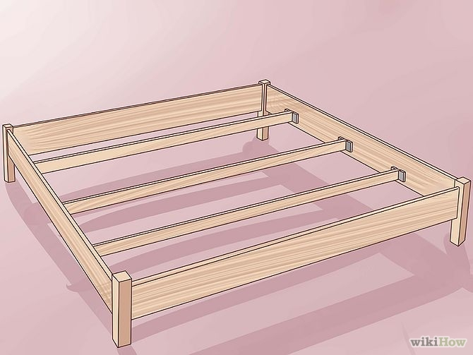 construirea unui pat din lemn How to build a wood frame bed 2