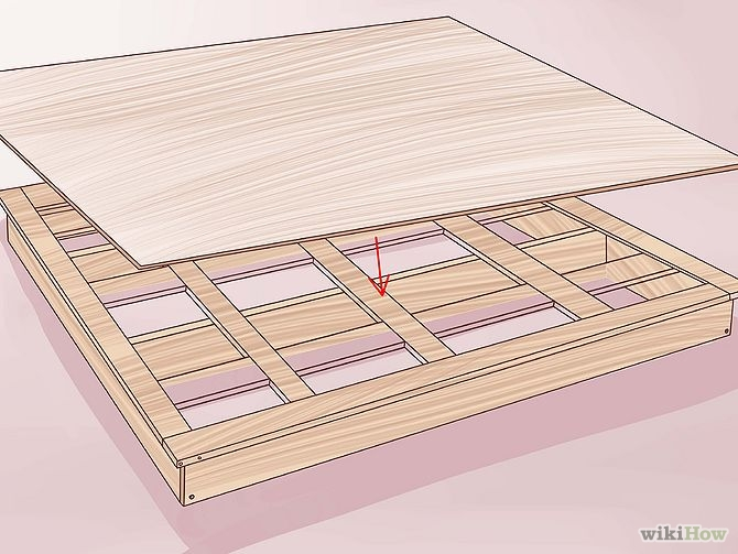 construirea unui pat din lemn How to build a wood frame bed 9