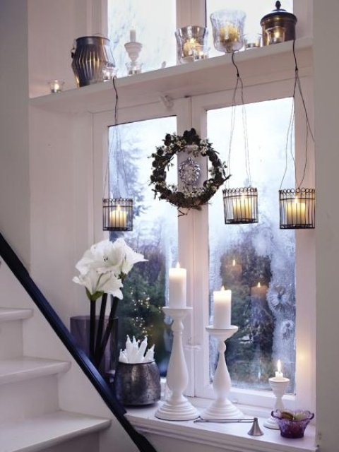 decorarea geamurilor de craciun Christmas window design ideas 13