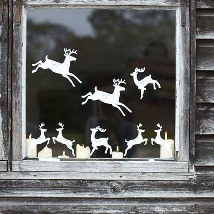 decorarea geamurilor de craciun Christmas window design ideas 19