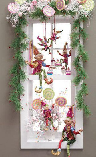 decorarea geamurilor de craciun Christmas window design ideas 24