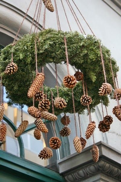 decoratiuni din crengi de brad Christmas fir branches decorations 13