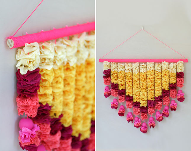 Crepe paper decorations for home