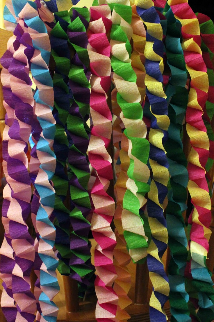 decoratiuni din hartie creponata Crepe paper decorations 18
