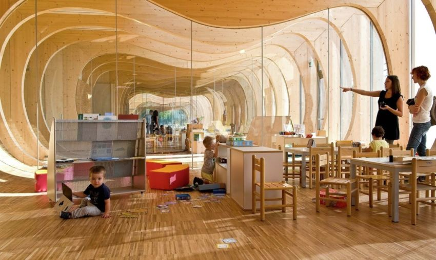 The green kindergarten in Italy