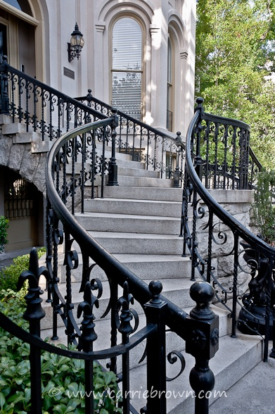 Exterior Wrought Iron Stair Railings Personalized Shapes
