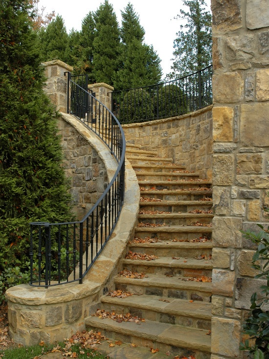 Natural Stone Staircase Design