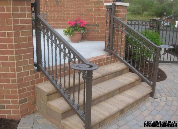 scari exterioare din fier forjat Exterior wrought iron stair railings 15