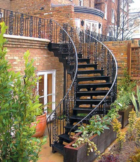 16 Elegant Traditional Staircase Designs That Will Amaze You: Exterior Wrought Iron Stair Railings