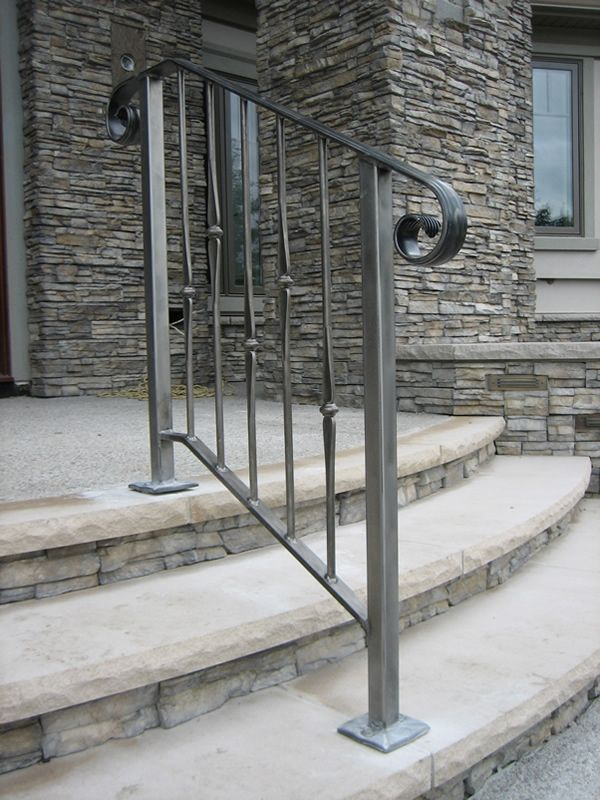 scari exterioare din fier forjat Exterior wrought iron stair railings 5