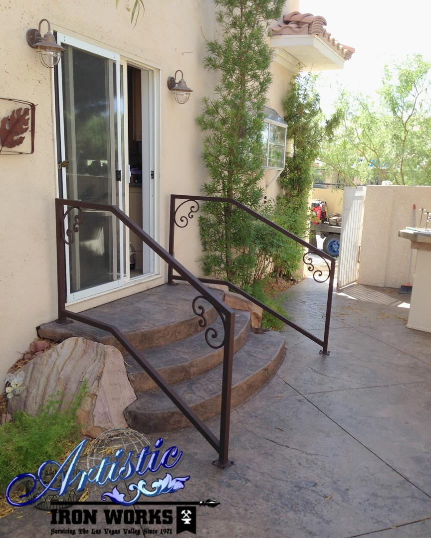 scari exterioare din fier forjat Exterior wrought iron stair railings