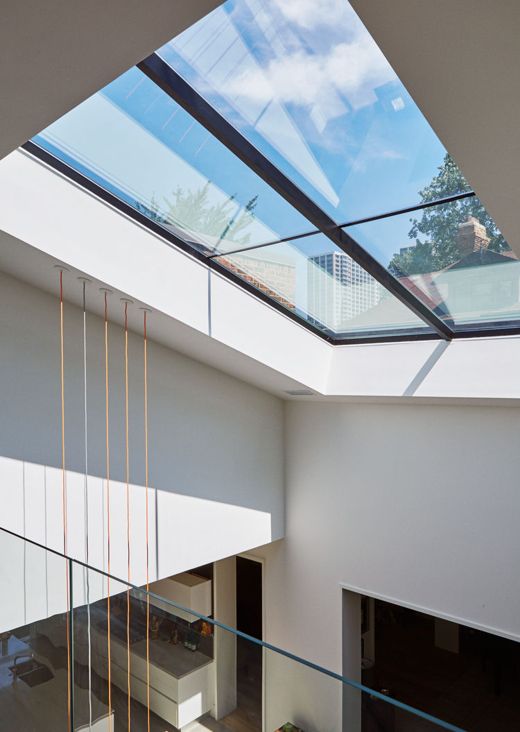 The atrium house a historic home transposed into for Large skylights