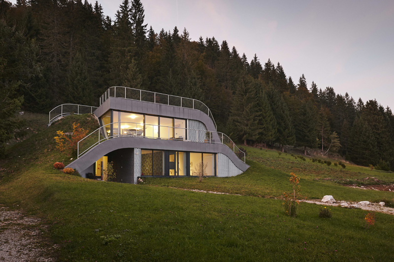 The house in the hill in France