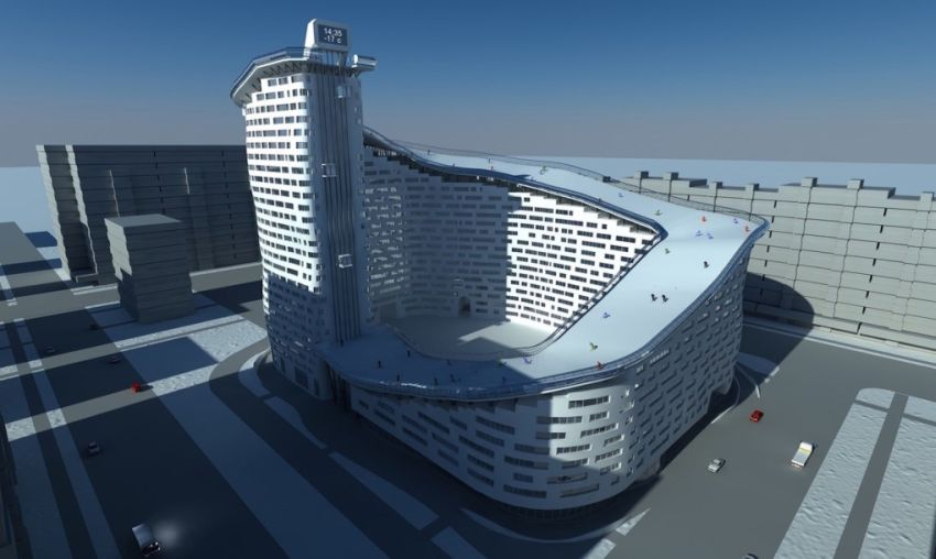 The Slalom House in Astana