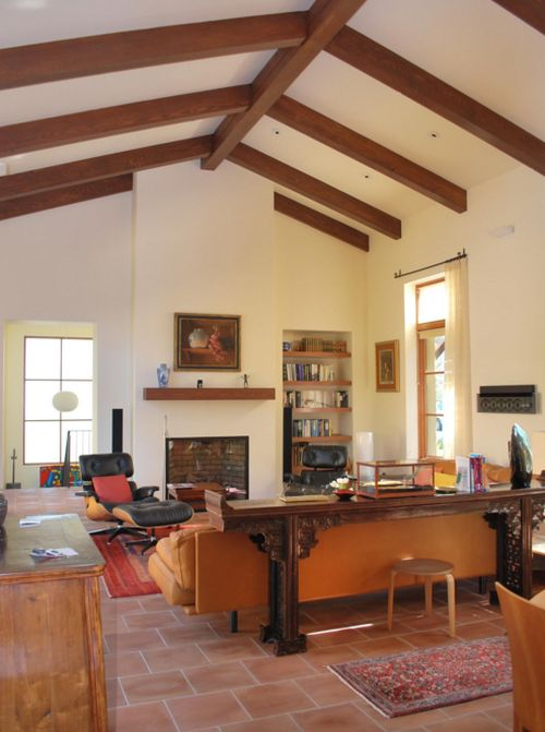 Faux wood beams at home