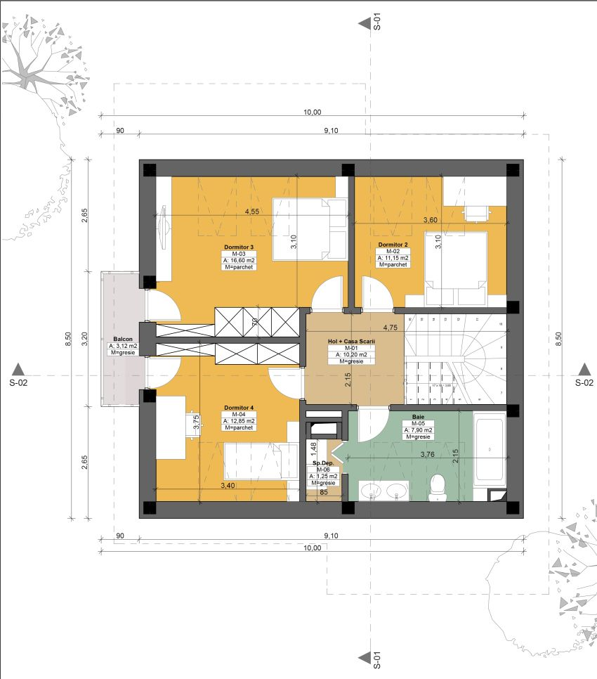 Case cu mansarda sub 150 de metri patrati case practice for Floor plans under 150 000