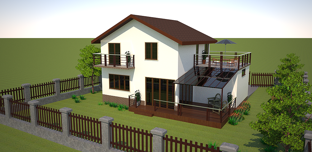 case cu terasa la etaj Houses with second floor terrace 11