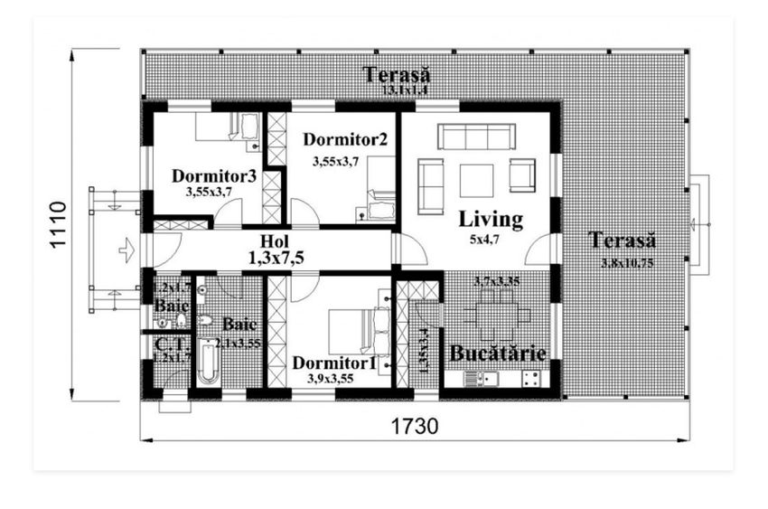 case cu veranda din lemn Wood porch house plans 7
