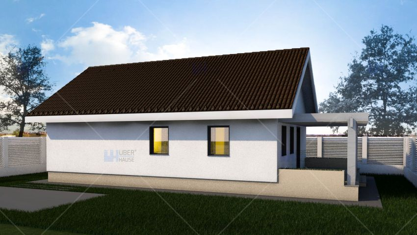 case mici cu parter Small single level house plans 5