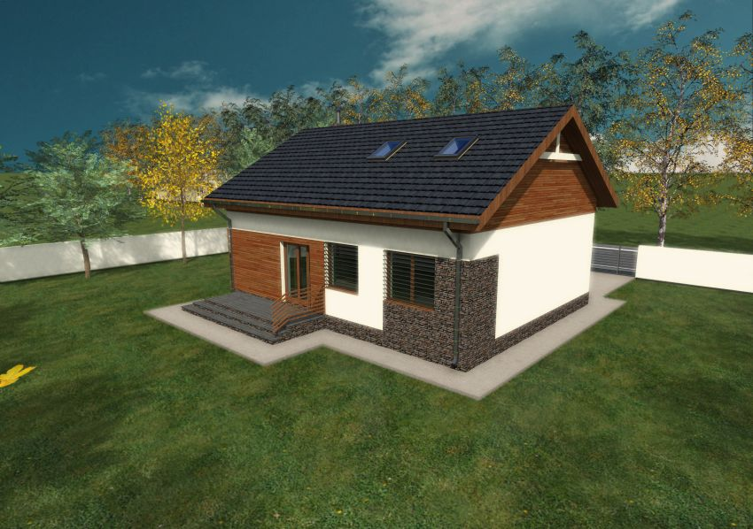 case mici cu parter Small single level house plans 8