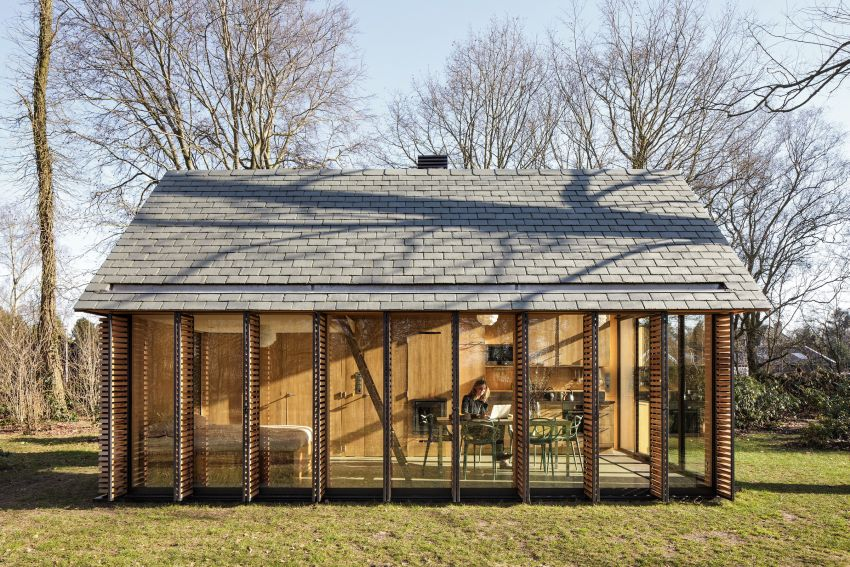 The shutter-clad house in Holland