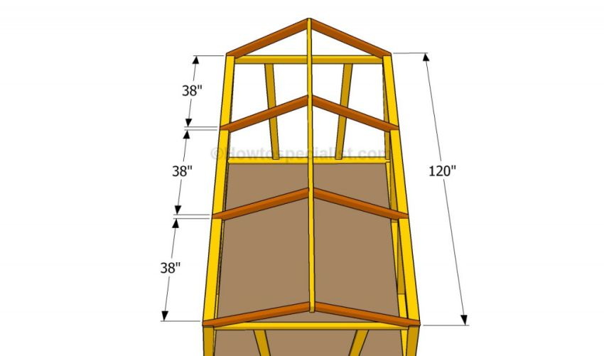 construirea unui solar din lemn How to build a wooden greenhouse 5