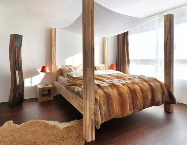 Next Are Two Bedrooms In Which Beds And Their Wooden Enclosures Appear To  Shape Distinct Visual Entities In The Same Room. Wood Climbs All The Way To  The ...