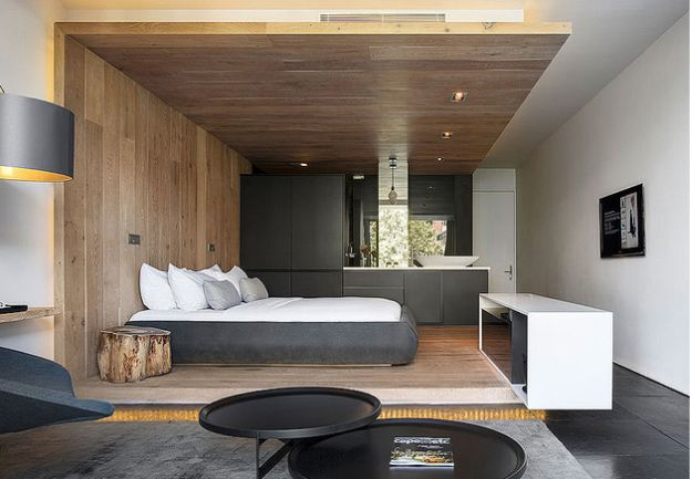 dormitoare imbracate in lemn wooden bedroom designs 4