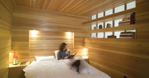 dormitoare imbracate in lemn wooden bedroom designs 5