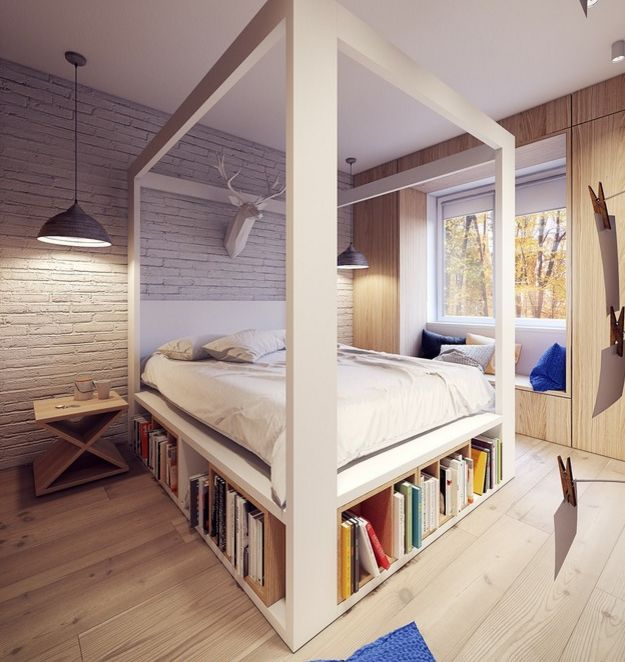 dormitoare imbracate in lemn wooden bedroom designs