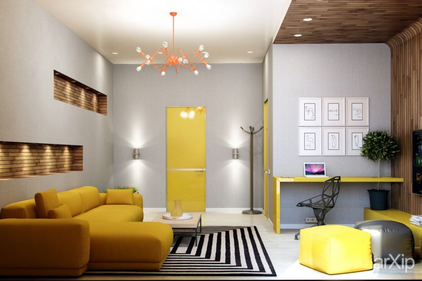 galbenul in design interior yellow accents in interior design 3