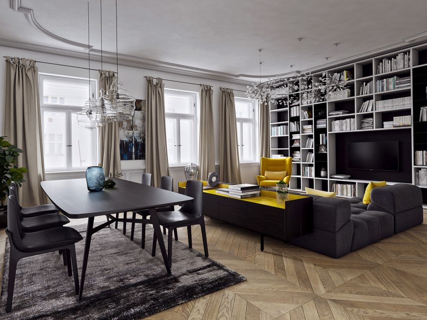 galbenul in design interior yellow accents in interior design 5