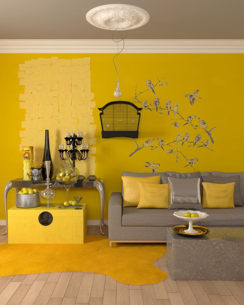 galbenul in design interior yellow accents in interior design 8