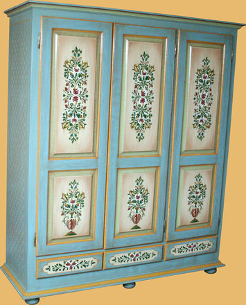 mobila pictata saseasca Transylvanian painted furniture 11