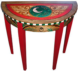 mobila pictata saseasca Transylvanian painted furniture 4