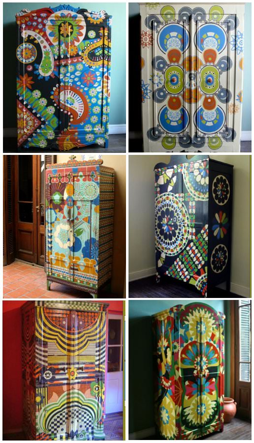 mobila pictata saseasca Transylvanian painted furniture 6