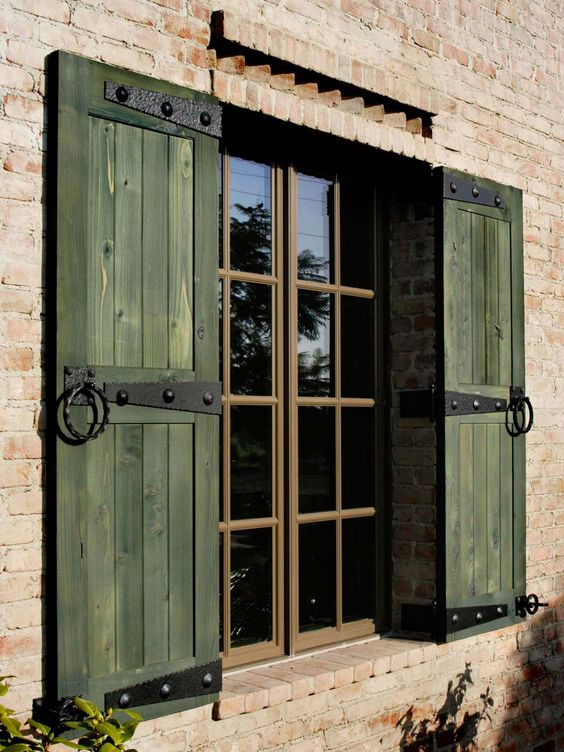 Wood shutters for home