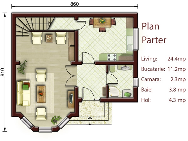 Two Bedroom Small House Plans - The Ideal Structure - Houz Buzz