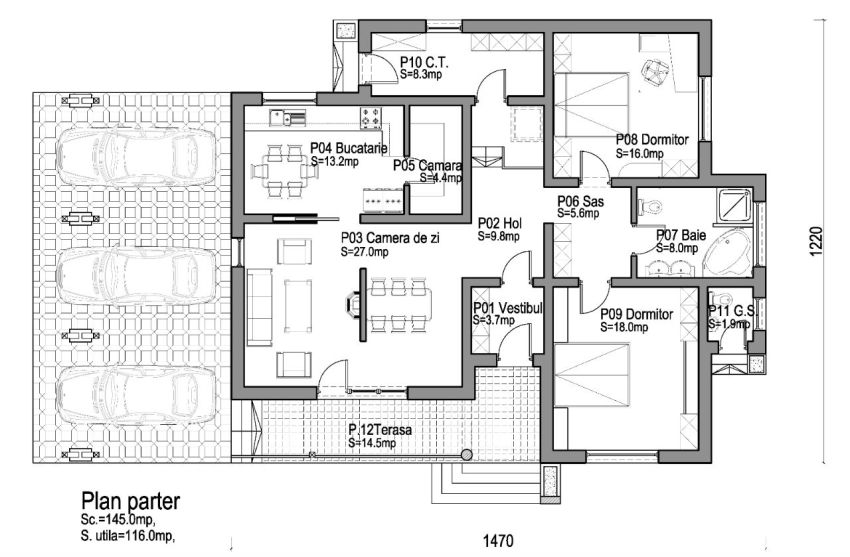 Proiecte de case mici pe un singur nivel small single level house plans 9