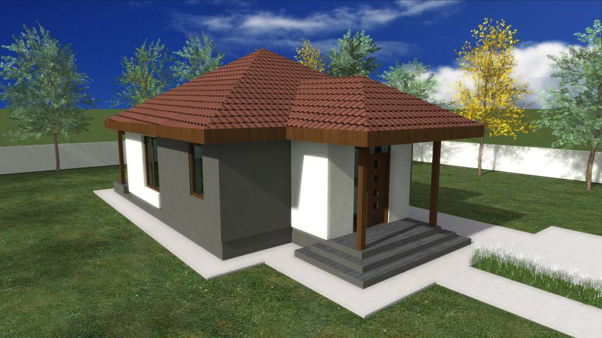 One bedroom house plans meeting expectations houz buzz for Simple 1 bedroom house plans