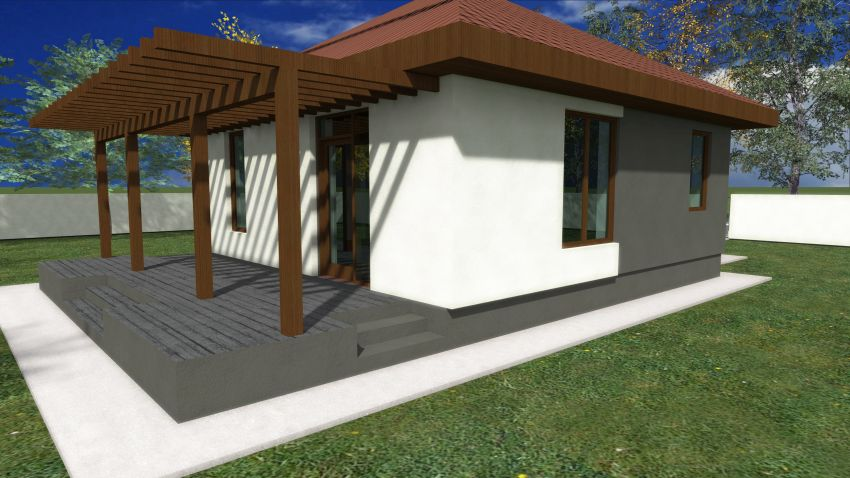 case mici cu un dormitor One bedroom house plans 2