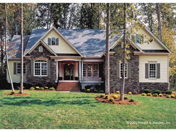 Houses with stone veneer for all